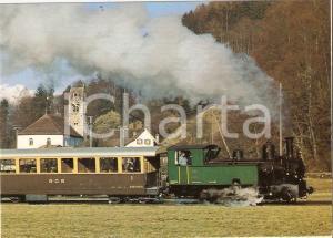 1975 ca MEFEZ Modelleisenbahnfreunde Eiger Locomotive G 3/4 11 *Cartolina FG NV