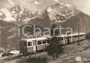 1975 ca BLM Bergbahn LAUTERBRUNNEN - MURREN Be 4/4 21-23 SIG Cartolina FG NV