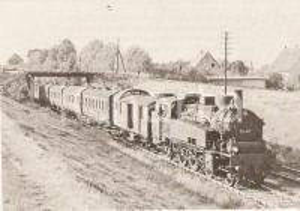 1970 ca DDR Treno DR 75 411 attraversa la campagna *Cartolina FG NV