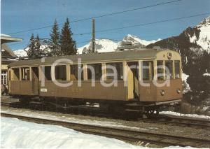 1975 ca BLM Bergbahn LAUTERBRUNNEN - MURREN Locomotiva BFe 2/4 11 Cartolina FG