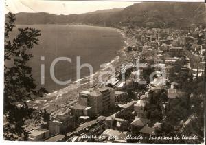 1954 ALASSIO (SV) Panorama da levante *Cartolina postale FG VG