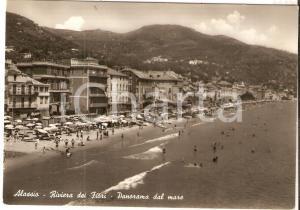 1949 ALASSIO (SV) Panorama dal mare - Riviera dei Fiori *Cartolina FG VG
