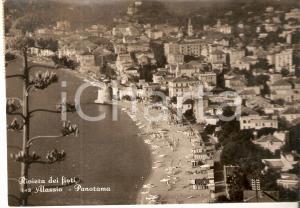 1960 ca ALASSIO (SV) Panorama aereo della città *Cartolina FG VG