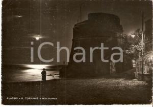 1940 ALASSIO (SV) Visita notturna al Torrione *Cartolina FG VG