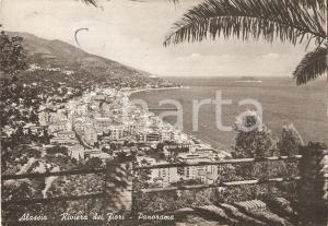 1958 ALASSIO (SV) Panorama della città - Riviera dei fiori *Cartolina FG VG