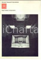 1970 ACOUSTIC RESAERCH INTERNATIONAL High fidelity components *Catalogue