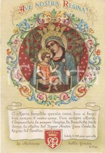1965 ca UDINE Preghiera del Santuario Beata Vergine delle Grazie Cartolina FG NV