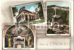 1960 ca CITTA' DI CASTELLO (PG) Santuario di CANOSCIO Vedutine *Cartolina FG NV