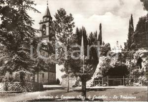 1955 ca CITTA' DI CASTELLO (PG) Santuario di CANOSCIO Fontanina *Cartolina FG NV