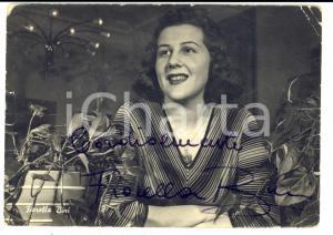 1960 ca MUSICA Fiorella BINI - Cartolina con AUTOGRAFO DANNEGGIATA