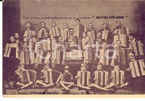 1910 ca AMIENS (FRANCE) Silvio CIVARDI accordéons italiens *Carte publicitaire