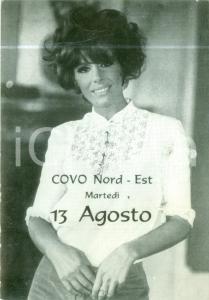 1970 ca Ornella VANONI al Covo di Nord Est *Volantino pubblicitario