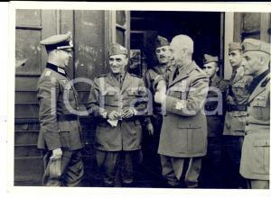 1940 ca WWII Una riunione tra comandanti *Fotografia 13x9 cm