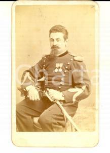 1890 ca NAPOLI REGIO ESERCITO Ritratto di alto ufficiale *Foto Achille MAURI CDV