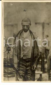 1930 ca Patriota FABIO FILZI dopo l'esecuzione *Foto cartolina postale FP NV