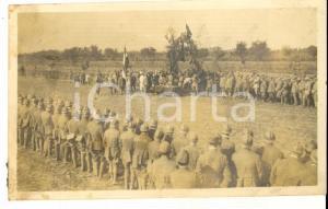 1918 ROSA' (VI) Una cerimonia di premiazione militare *Fotografia 11x7 cm