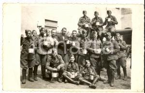 1935 ca REGIO ESERCITO Ufficiali di artiglieria al rancio *Foto cartolina