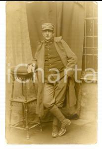 1915 ca REGIO ESERCITO Ritratto di giovane ufficiale infangato *Foto cartolina