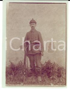 1915 ca WW1 ZONA DI GUERRA Ufficiale austriaco con il fucile *Foto 9x12 cm