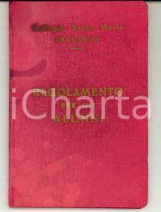 1955 VERBANIA PALLANZA Collegio SANTA MARIA Regolamento per gli alunni 44 pp.