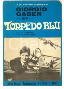 1968 Giorgio GABER Torpedo blu *Partitura canto - mandolino ed. SCIASCIA