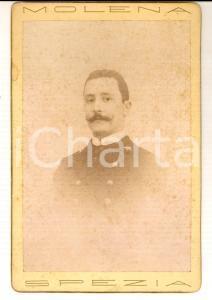 1895 REGIA MARINA LA SPEZIA Ritratto ufficiale Carlo TOSI Foto MOLENA con dedica