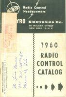 1960 NEW YORK (USA) Gyro Electronics Radio Control Catalog Opuscolo ILLUSTRATO