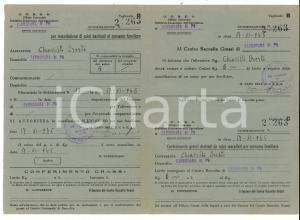1945 CARBONARA DI PO Autorizzazione Oreste CHIAVELLI per macellazione suini