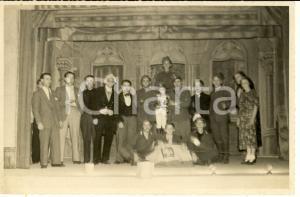 1940 ca BOLLATE Teatro dell'Oratorio maschile - Gruppo di attori *Foto 18x12