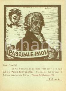 1950 ca ROMA Petru GIOVACCHINI Gruppo di Azione Irredentista Corsa *Cartolina FG