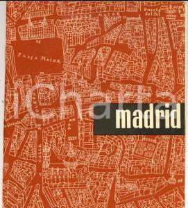 1960 ca MADRID Guida turistica ILLUSTRATA 26 pp.  English *VINTAGE