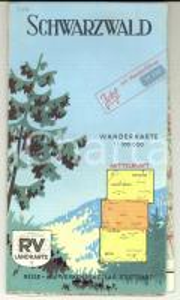 1960 ca GERMANIA Foresta Nera / SCHWARZWALD *Pieghevole con mappa DEUTSCH