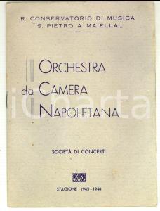 1946 NAPOLI Conservatorio *Programma concerto VON HOESSLIN - BAUMGARTNER