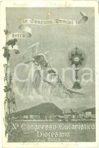 1935 VERBANIA INTRA X Congresso Eucaristico Diocesano Cartolina pubblicitaria FG