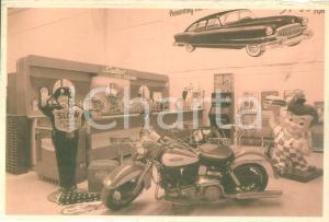 1945 PARMA Harley-Davidson a Cadillac Ranch Cartolina pubblicitaria DANNEGGOATA