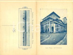 1930 ca PAVIA Ricordo della Regia Università *Cartolina pieghevole FP NV