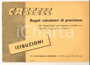 1960 ca CASTELL Regoli calcolatori di precisione - Istruzioni *Libretto 46 pp.