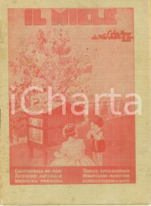 1930 ca G. PUGNO Il miele ed i suoi usi come alimento e medicina *Prima edizione