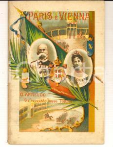 1910 ca TORINO Istoria dei nobilissimi amanti Paris e Vienna *ed. ARNAUDO RARO
