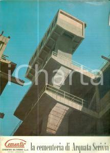 1975 ca ARQUATA SCRIVIA (AL) Cementerie del Tirreno CEMENTIR DANNEGGIATO