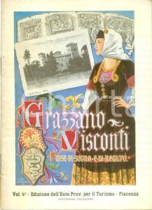 1956 GRAZZANO VISCONTI (PC) Paese di sogno e di realtà *Opuscolo ILLUSTRATO