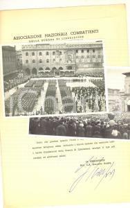 1970 ASSOCIAZIONE NAZIONALE COMBATTENTI Discorso Galliano SCARPA + foto raduno