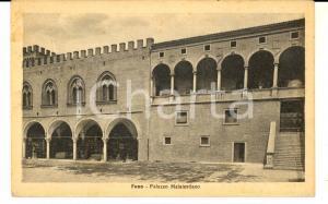 1935 FANO (PU) Palazzo Malatestiano *Cartolina VIRDIS ad Armando BARILLI FP VG