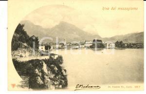 1901 RIVA DEL GARDA (TN) Veduta da mezzogiorno *Cartolina avv. Enrico BODOANO