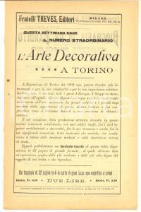 1902 MILANO Fratelli TREVES Editori Bollettino bibliografico periodico