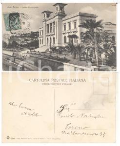 1908 SANREMO (IM) Casino Municipale *Cartolina autografo Aroldo NORLENGHI FP VG