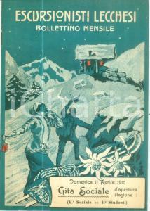 1915 ESCURSIONISTI LECCHESI Campionato nazionale di sci *Rivista
