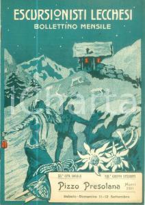 1915 ESCURSIONISTI LECCHESI Gita al Pizzo PORCELLIZZO *Rivista