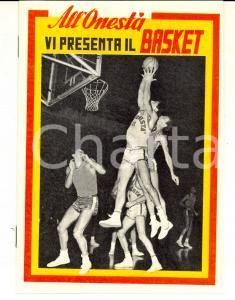 1967 BASKET Campionato SERIE A Libretto ALL'ONESTA' con calendario 18 pp.
