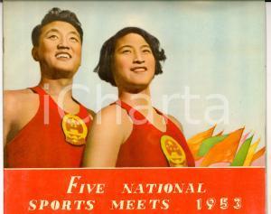 1953 CHINA Five National Sports Meets *Pubblicazione ILLUSTRATA 48 pp.
